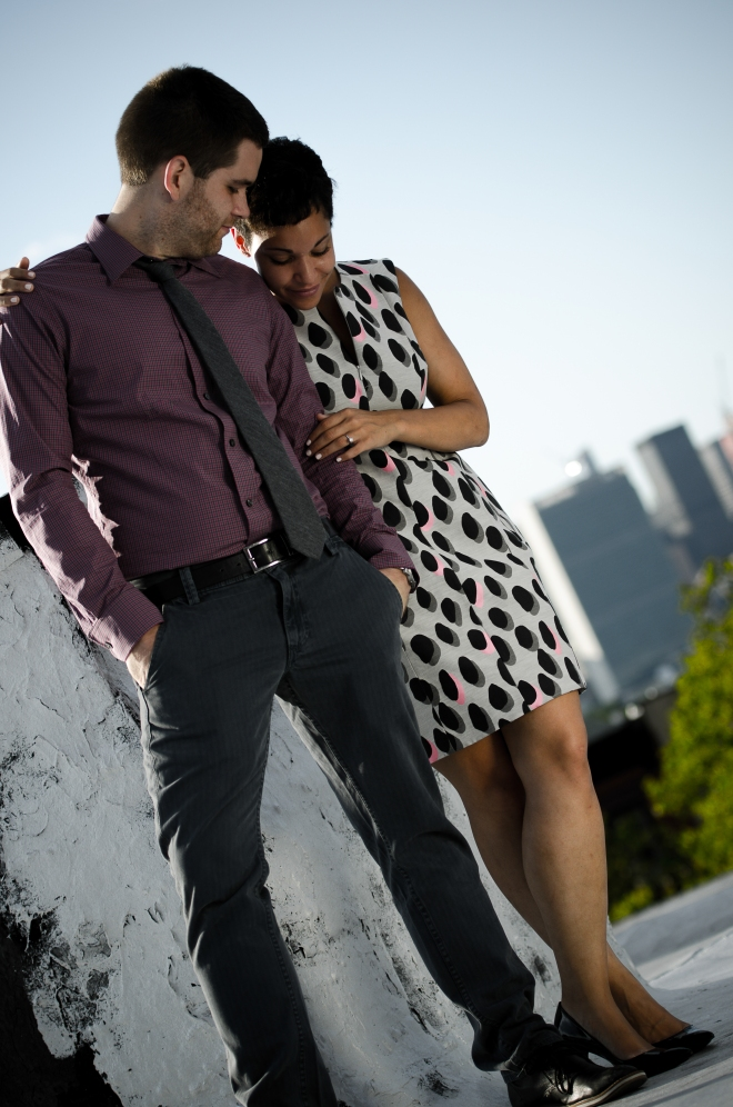 Engagement Shoot, Greenpoint Brooklyn, August 2013. The couple is set to wed in April 2014.