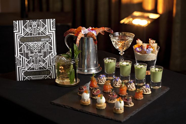 Theme Party Food  amp  Beverage Ideas  The Great GatsbyGreat Gatsby Party Food Ideas